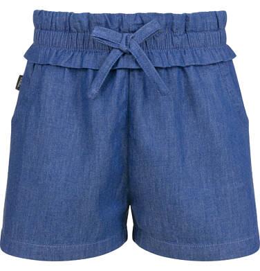 Krótkie spodenki jeansowe dla dziewczynki, 2-8 lat D03K033_1