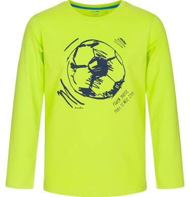 Endo - T-shirt z długim rękawem dla chłopca, jaskrawozielona, 9-13 lat C92G572_1