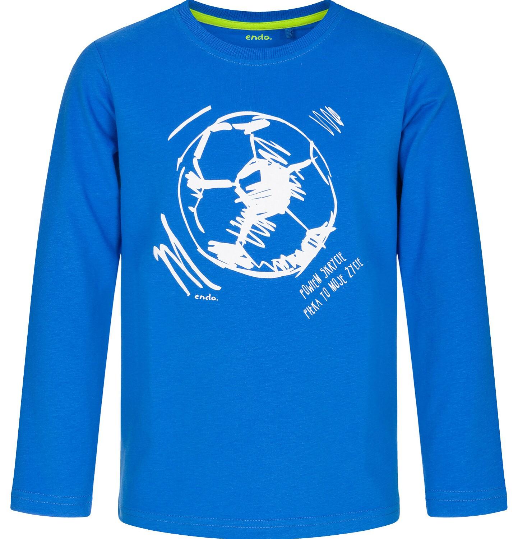 Endo - T-shirt z długim rękawem dla chłopca, niebieska, 3-8 lat C92G072_2