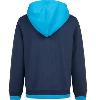 Endo - Bluza z kapturem dla chłopca, rozpinana, z napisem na kieszeni, granatowa, 4-8 lat C03C029_1 6