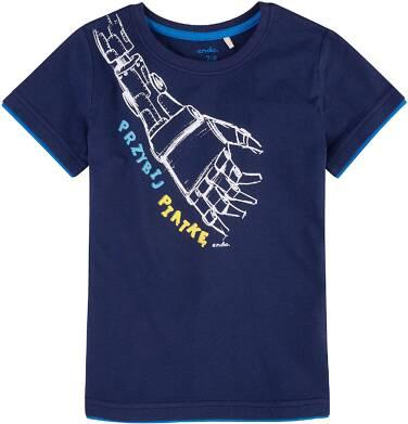 Endo - T-shirt z kontrastowym wykończeniem dla chłopca 4-8 lat C71G040_1