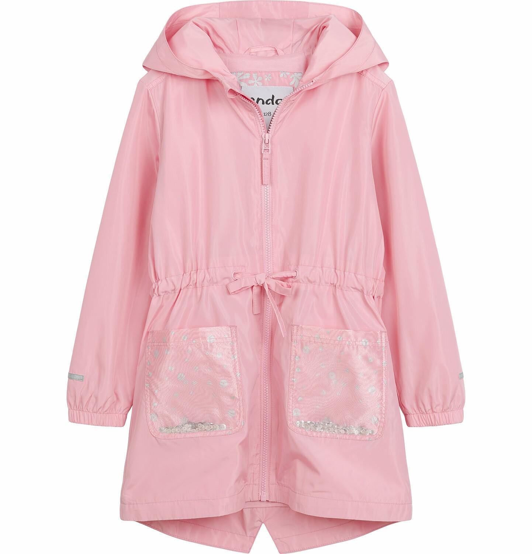 Endo - Przejściowa kurtka parka, z cekinami w kieszeniach, różowa, 2-8 lat D03A001_1