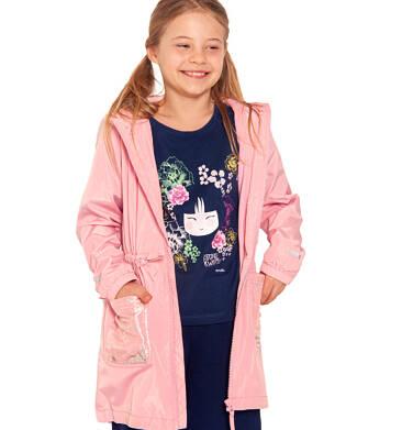 Endo - Wiosenna kurtka parka, z cekinami w kieszeniach, różowa, 2-8 lat D03A001_1