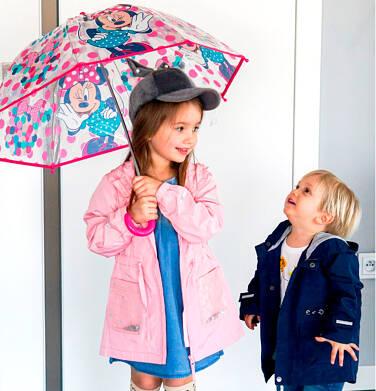 Endo - Przejściowa kurtka parka, z cekinami w kieszeniach, różowa, 2-8 lat D03A001_1 276