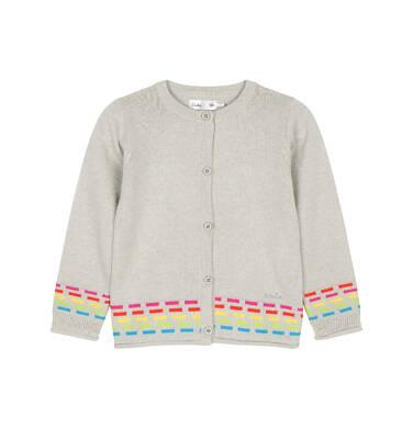 Sweter rozpinany dla dziecka 0-3 lata N91B013_1