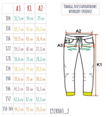 Endo - Spodnie jeansowe ze ściągaczami dla chłopca 3-8 lat C92K003_2