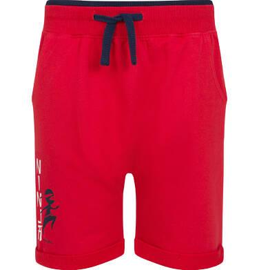 Endo - Krótkie spodenki dresowe dla chłopca, czerwone, 2-8 lat C03K011_2 24