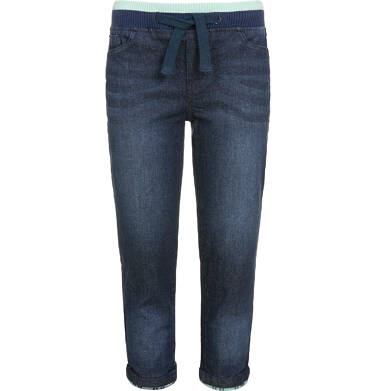 Endo - Spodnie jeansowe ze ściągaczami dla chłopca 9-13 lat C92K503_2
