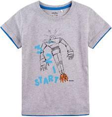 Endo - T-shirt z kontrastowym wykończeniem dla chłopca 4-8 lat C71G043_1