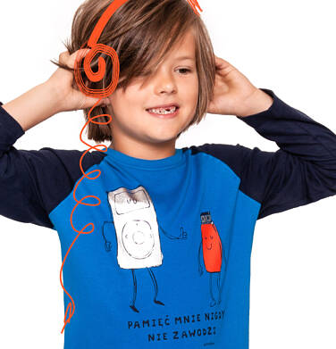 Endo - T-shirt z długim rękawem dla chłopca 3-8 lat C92G114_1