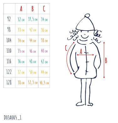 Endo - Pikowana kurtka przejściowa dla dziewczynki, deseń w kwiaty, 2-8 lat D03A005_1,3