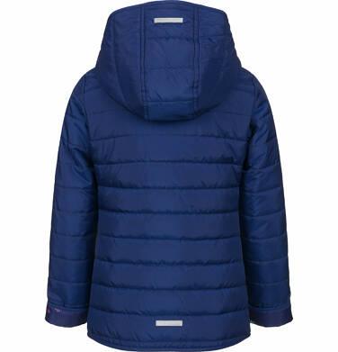 Endo - Pikowana kurtka przejściowa dla dziewczynki, deseń w kwiaty, 2-8 lat D03A005_1,2