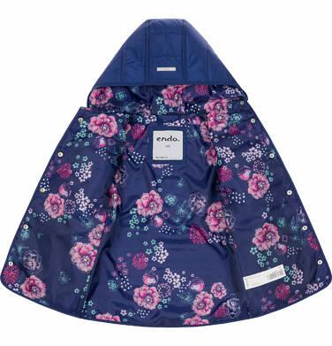 Endo - Pikowana kurtka przejściowa dla dziewczynki, deseń w kwiaty, 2-8 lat D03A005_1 21