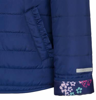 Endo - Pikowana kurtka przejściowa dla dziewczynki, deseń w kwiaty, 2-8 lat D03A005_1,7