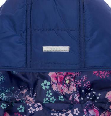 Endo - Pikowana kurtka przejściowa dla dziewczynki, deseń w kwiaty, 2-8 lat D03A005_1,6