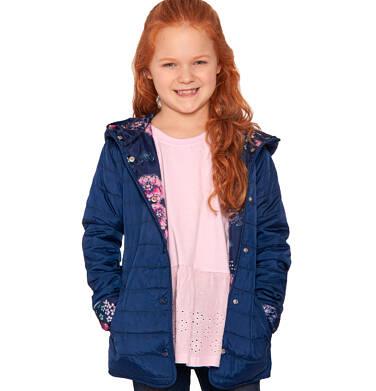 Endo - Pikowana kurtka przejściowa dla dziewczynki, deseń w kwiaty, 2-8 lat D03A005_1,4