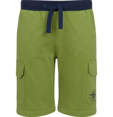 Endo - Krótkie spodenki dresowe dla chłopca, oliwkowe, 2-8 lat C03K017_1 50