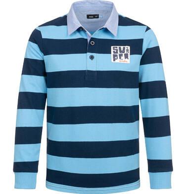 Endo - Koszulka polo z długim rękawem dla chłopca, deseń w pasy, 4-8 lat C03G180_1 16