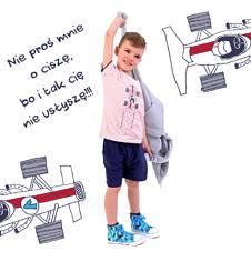 T-shirt z kontrastowym wykończeniem dla chłopca 4-8 lat C71G044_1