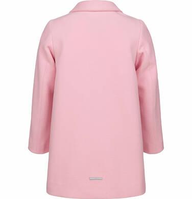 Endo - Flauszowy płaszcz przejściowy dla dziewczynki, z kołnierzykiem, różowy, 2-8 lat D03A006_1,5