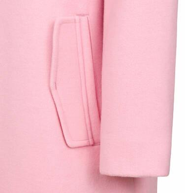 Endo - Flauszowy płaszcz przejściowy dla dziewczynki, z kołnierzykiem, różowy, 2-8 lat D03A006_1,8