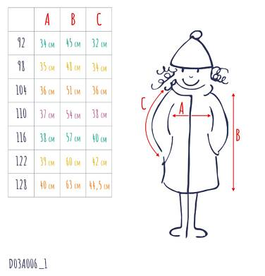 Endo - Flauszowy płaszcz przejściowy dla dziewczynki, z kołnierzykiem, różowy, 2-8 lat D03A006_1,4