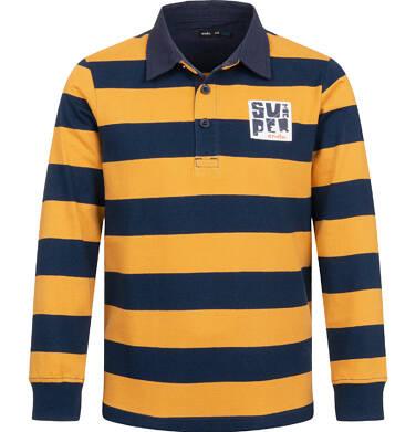 Endo - Koszulka polo z długim rękawem dla chłopca, deseń w pasy, 4-8 lat C03G180_2 15