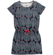Sukienka we wzorzysty deseń dla dziewczynki D61H065_1