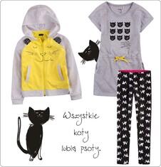 Zestaw dla małej dziewczynki z linii Mam kota D005_M