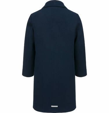 Endo - Flauszowy płaszcz przejściowy dla dziewczynki, z kołnierzykiem, granatowy, 2-8 lat D03A007_2,4
