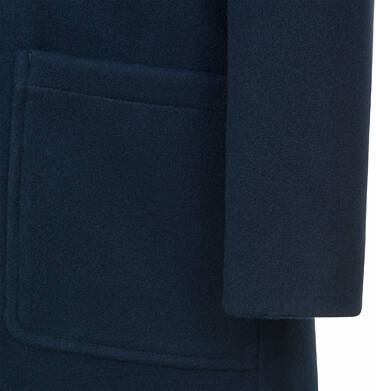 Endo - Flauszowy płaszcz przejściowy dla dziewczynki, z kołnierzykiem, granatowy, 2-8 lat D03A007_2,7