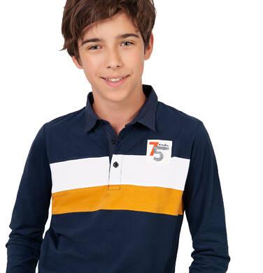 Endo - Koszulka polo z długim rękawem dla chłopca, granatowa, 4-8 lat C03G186_1 14