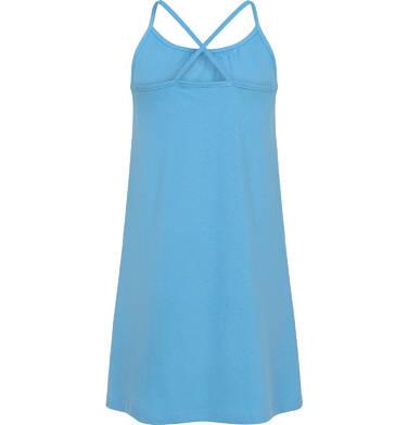 Endo - Letnia sukienka na ramiączkach dla dziewczynki, z kwiatami i ważką, błękitna, 3-8 lat D06H010_1,3