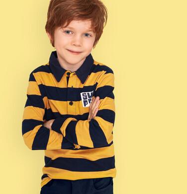 Endo - Koszulka polo z długim rękawem dla chłopca, deseń w pasy, 9-13 lat C03G680_2 36