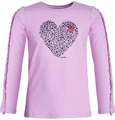 Endo - T-shirt z długim rękawem dla dziewczynki 3-8 lat D82G611_2