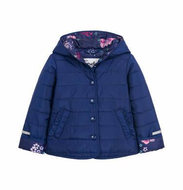 Pikowana kurtka wiosenna dla dziecka do 2 lat, kwiecisty deseń N03A006_1