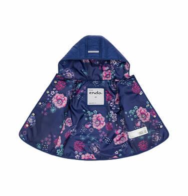 Endo - Pikowana kurtka wiosenna dla dziecka do 2 lat, kwiecisty deseń N03A006_1