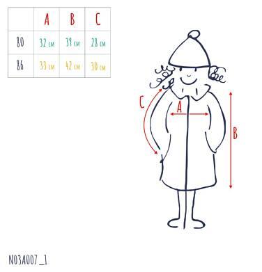 Endo - Flauszowy płaszcz dla dziecka do 2 lat, z kołnierzykiem, różowy N03A007_1,3