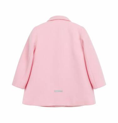 Endo - Flauszowy płaszcz dla dziecka do 2 lat, z kołnierzykiem, różowy N03A007_1,2