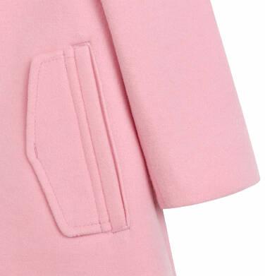 Endo - Flauszowy płaszcz dla dziecka do 2 lat, z kołnierzykiem, różowy N03A007_1,6