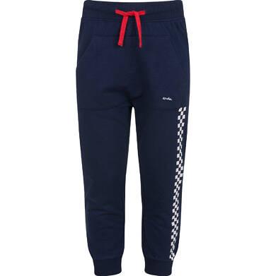 Endo - Spodnie dresowe dla chłopca, z paskiem z boku, granatowe, 2-8 lat C03K055_1 14