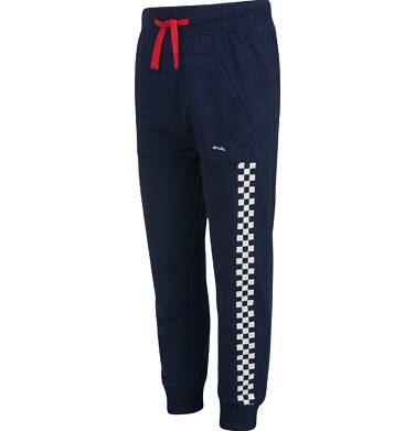 Endo - Spodnie dresowe dla chłopca, z paskiem z boku, granatowe, 2-8 lat C03K055_1,2
