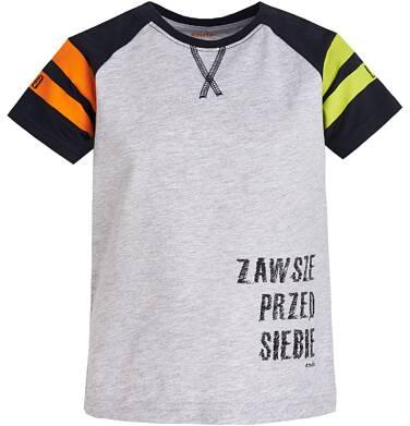 Endo - T-shirt z krótkim reglanowym rękawem dla chłopca 3-8 lat C81G076_1