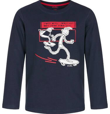 Endo - T-shirt z długim rękawem dla chłopca 9-13 lat C92G576_2