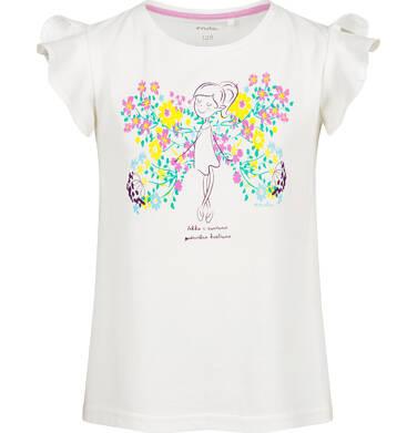 Endo - Bluzka z krótkim rękawem dla dziewczynki, motyw w kwiaty, 2-8 lat D03G093_1