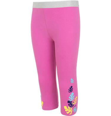 Endo - Legginsy 3/4 dla dziewczynki, różowe z kolorowymi listkami, 9-13 lat D06K051_3 9
