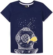 T-shirt z kontrastowym wykończeniem dla chłopca 4-8 lat C71G146_1