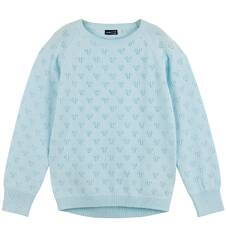 Endo - Ażurowy sweter dla dziewczynki D61B003_2
