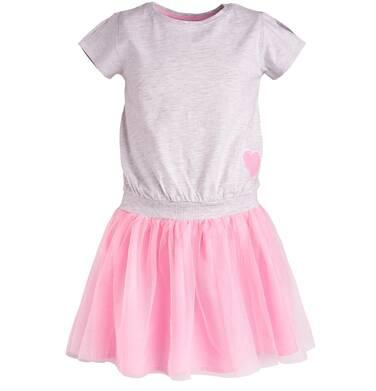 Endo - Sukienka z tiulowym dołem dla dziewczynki 3-8 lat D81H023_1