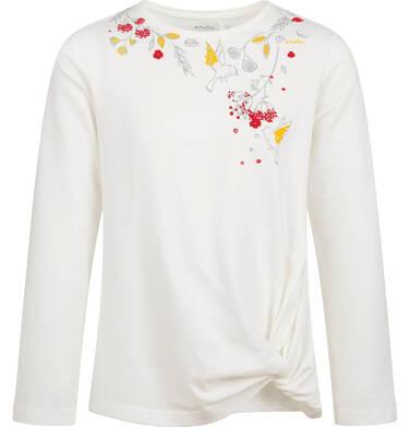 Endo - Bluzka z długim rękawem dla dziewczynki, z motywem kwiatów, porcelanowa, 9-13 lat D04G142_1 26